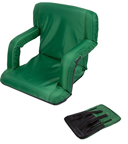 Cheap Portable Multiuse Adjustable Recliner Stadium Seat by Trademark Innovations (Green)