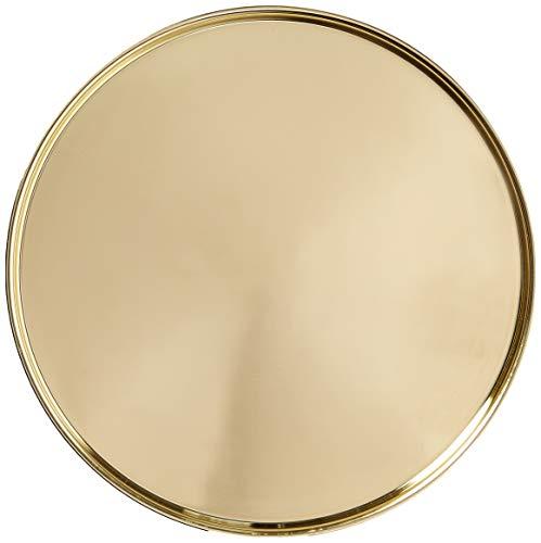 Viski 5204 Summit Belmont Serving Tray, Gold (Round Gold Tray)