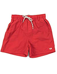 Youth Dockside Swim Trunk, Red, Youth Large