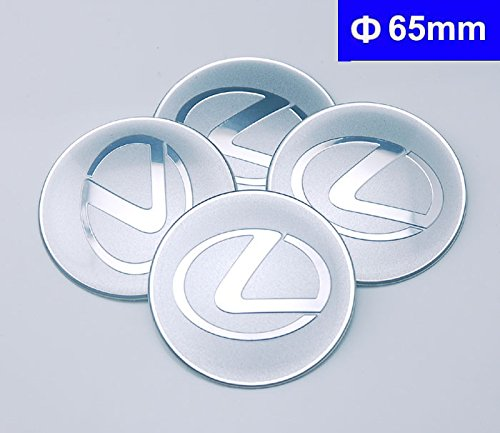 4pcs C088 65mm Emblem Badge Sticker Wheel Hub Caps Center Cover Lexus ES RX CT LS IS GS GX LX (Lexus Wheel Center Cap)