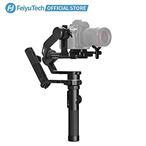 FeiyuTech AK4500 DSLR Camera Stabilizer, The Godzilla Gimbal, Payload 4.6 KG for Sony Canon Panasonic Nikon, Detachable Design, Lock Button, LCD Touch Screen Include Motion Controller 3