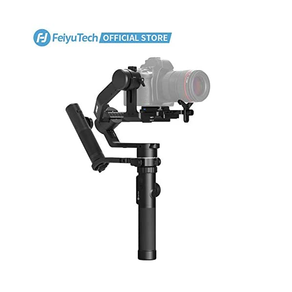 FeiyuTech AK4500 DSLR Camera Stabilizer, The Godzilla Gimbal, Payload 4.6 KG for Sony Canon Panasonic Nikon, Detachable Design, Lock Button, LCD Touch Screen Include Motion Controller 1