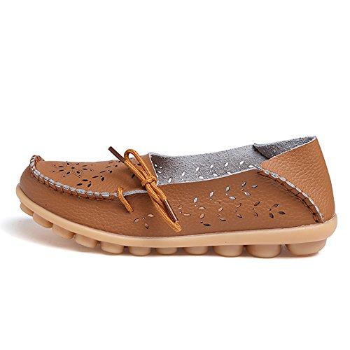 Shoe Avenue - Mocasines de Material Sintético para hombre Marrón marrón j8hxy5s6Sq