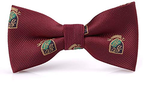 Flairs New York Little Gentleman's Father & Son Bow Tie Set (Burgundy Red [Emblem])
