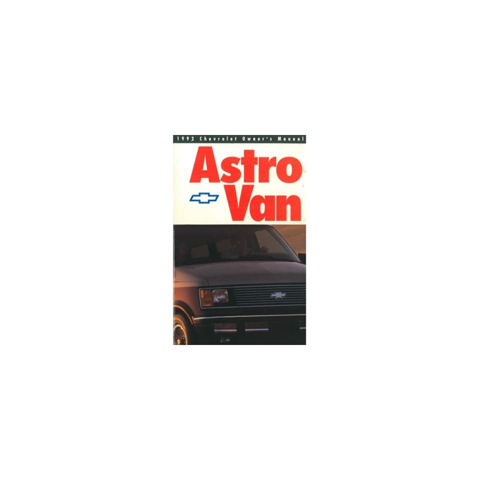 1992 CHEVROELT ASTRO VAN Owners Manual User Guide