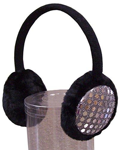 NIce Caps Girls Sequin Trimmed Adjustable Ear Muffs