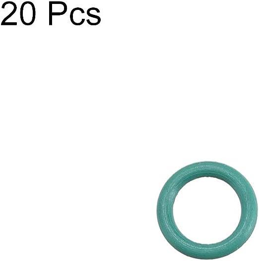 sourcing map Gomma al Fluoro Anello per Toroidale 6mm Diametro E 4 Mm Diametro Interno 1 Mm Larghezza Guarnizione Tenuta Verde 20 Pz