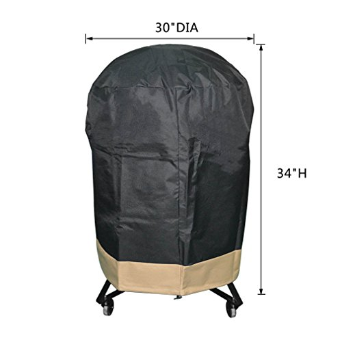 onlyfire Kamado Grill Cover Fits for Large Big Green Egg,Kamado Joe Classic and Stand-Alone,Large Grill Dome,Pit Boss K22,Louisiana K22,Coyote the Asado Cooker and other,30