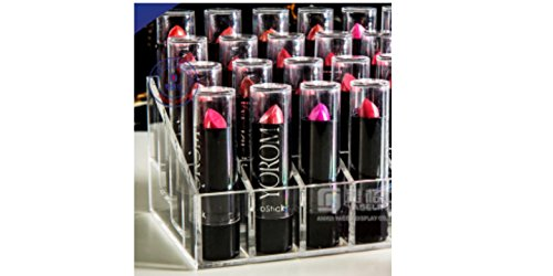 Clearly Chic 16 Compartment Lipstick and Nail Polish Organizer