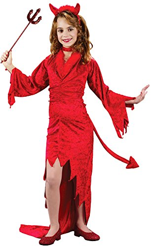 Sm Halloween Costumes (Girls - Devilish Devil Child Sm Halloween Costume - Child Small)