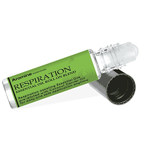 Respiration (Breathe Blend) Essential Oil Roll On, Pre-Diluted 10ml (1/3 fl oz)
