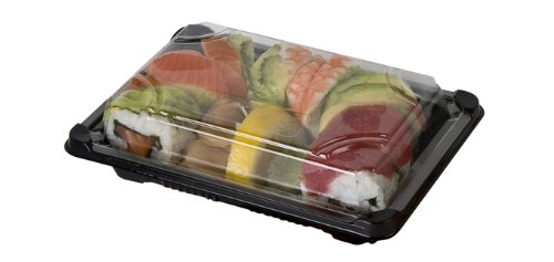 Eco-Products Clear Grab & Go Renewable & Compostable Premium Sushi Trays with Lids, 5 x 7-Inch, Case of 600 (EP-SH2-CPK)