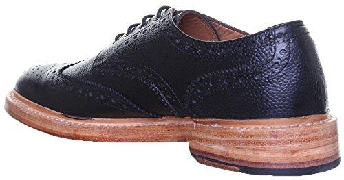 Dylan Justin Reece aus mattem Rahmengenäht Herren Leder Schuhe Schwarz S1Q