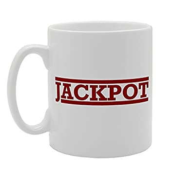Jackpot Joke Coffee Mugs Gifts For Men Ceramic Mug Funny For Women Office  Ceramic Cup 11oz