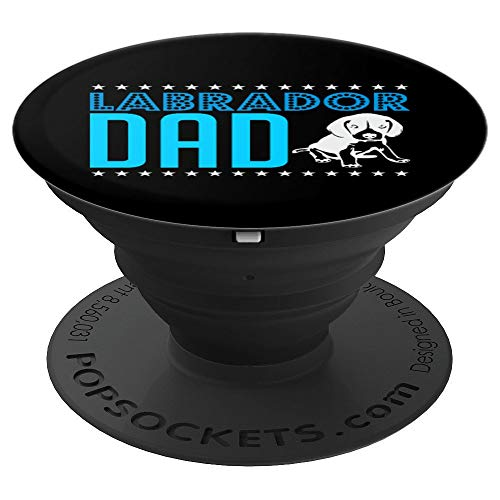(Vintage Lab Dad Funny Labrador Retriever Animal Dog Dad PopSockets Grip and Stand for Phones and Tablets)