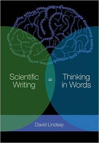 scientific writing thinking in words david lindsay 9780643100466 amazoncom books