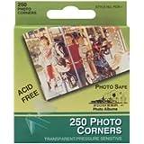 Bulk Buy: Pioneer Photo Corners Self Adhesive 250/Pkg Clear PCR-1 (6-Pack)