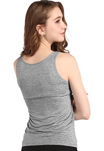 Vislivin Women's Modal Padded Casual Tank Top Vest Gray