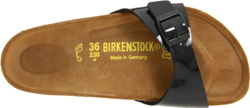 Birkenstock Madrid Black Patent Womens Sandals Size 37 EU