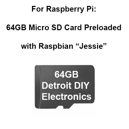Preloaded Micro Sd Card for Raspberry Pi (64GB Micro with...