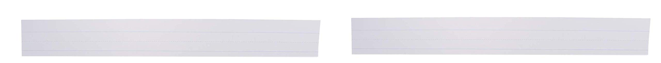 School Smart Ruled Sentence Strips, 3 x 24 Inches, White, Pack of 100 (Тwo Рack)