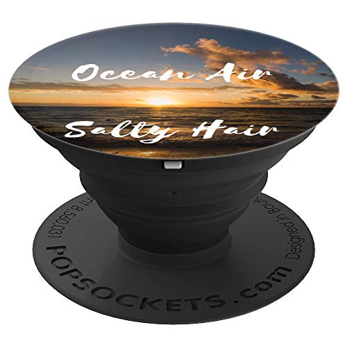 (Beach Sunset Ocean Sea Water Salt Sand Paradise Hawaii Gift - PopSockets Grip and Stand for Phones and Tablets )