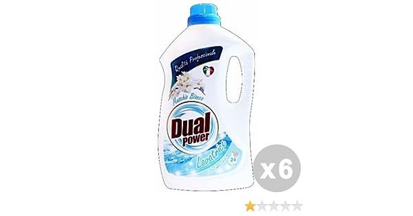 Dual Power Juego 6 Detergente Lavadora Liquido 24 Lavados almizcle ...