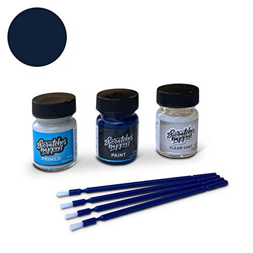 ScratchesHappen Exact-Match Touch Up Paint Kit Compatible with Mercedes-Benz Cote D`Azur Blue Dark (947) - Preferred