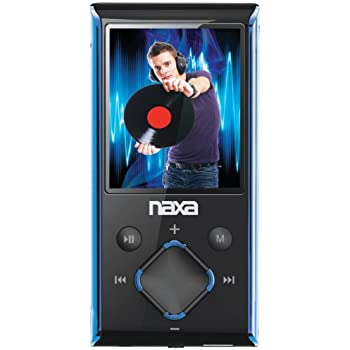 Naxa NMV-173 Portable Media Player with 1.8-Inch LCD Screen, Built-in 4GB Flash Memory and SD Card Slot (Blue)
