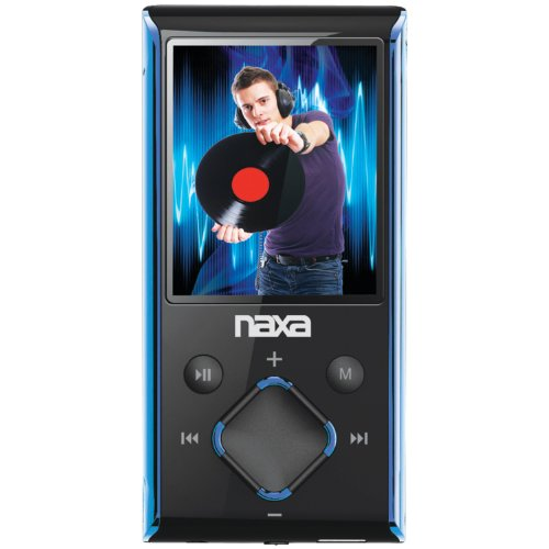 Naxa NMV-173 Portable Media Player with 1.8-Inch LCD Screen, Built-in 4GB Flash Memory and SD Card Slot (Blue) (Coby Tablet 8gb)