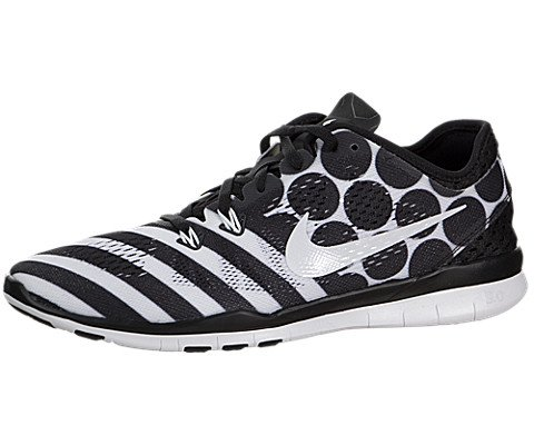 Nike 5.0 Tr Fit 5 Print Running Shoes Black White Wmns Sz...