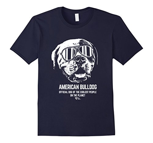 Men's American Bulldog Shirt Official Dog of the Coolest People 2XL Navy