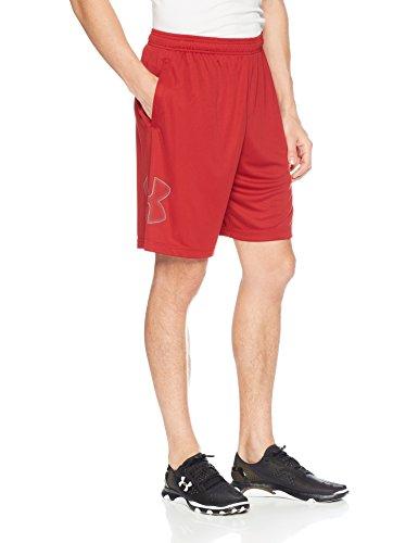 (Under Armour Men's Tech Graphic Shorts , Rapture Red (620)/Graphite, X-Large)