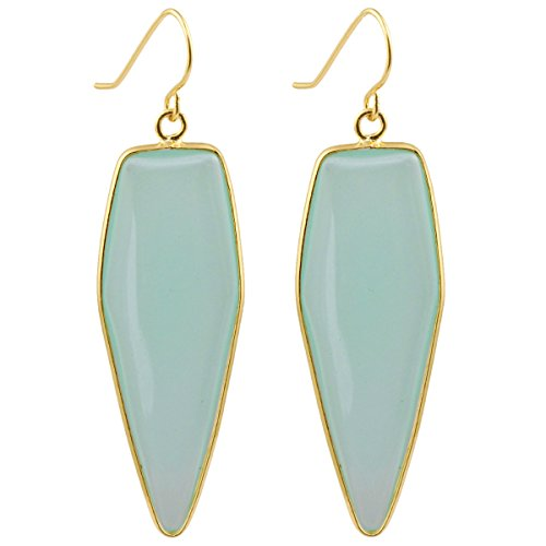 SUNYIK Women's Light Green Crystal Glass Healing Point Dangle ()