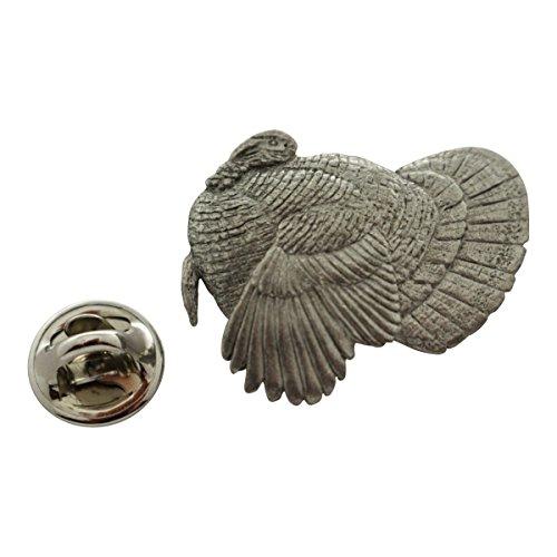 Sarah's Treats & Treasures Turkey Pin ~ Antiqued Pewter ~ Lapel Pin