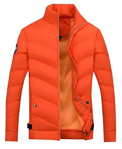 Manica Lunga Piumino Mens Inverno Packable Alla Coreana Sicurezza 1 Puffer Colletto Moda Leggero 6RqwWdw5