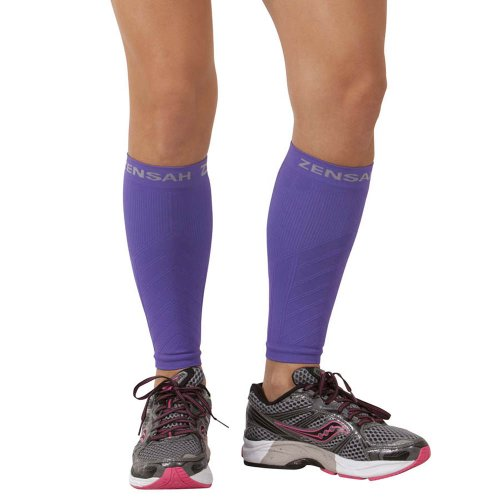 - Zensah  Compression Leg Sleeves, Purple, Large/X-Large