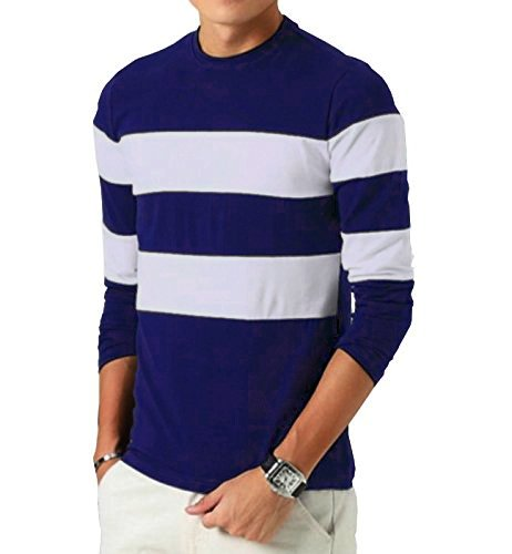 Seven Rocks Men s Striped Regular Fit T-Shirt  Amazon.in  Clothing ... 6be94e54fc