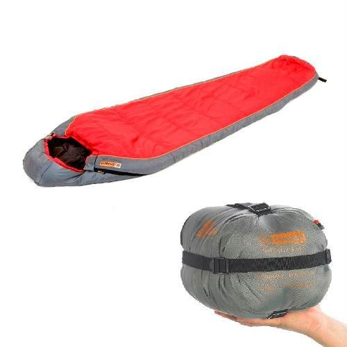 SnugPak Sleeper Lite Red (Civilian) RH Zip Sleeping Bag, Outdoor Stuffs