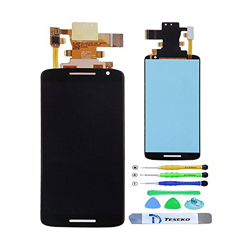 Teseko New Assembly full LCD Display + Touch Screen Digitizer For Motorola Moto X Play XT1561 XT1562 XT1563 With Free DIY Tools---Black