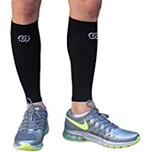 Compressions Calf Sleeve (1 Pair) - Shin Splint Support Relief - Leg Socks/Running Sleeves for Men & Women