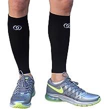 Compressions Calf Sleeve (1 Pair) - Shin Splint Support Relief - Leg Socks/Running Sleeves for Men & Women