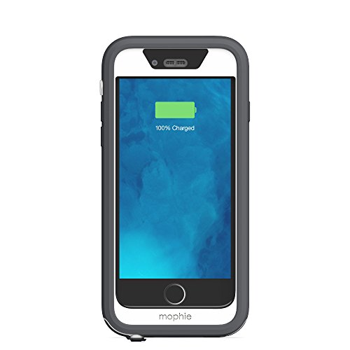 mophie juice pack H2PRO - Waterproof Mobile Protective Battery Pack Case for iPhone 6/6s - White by mophie