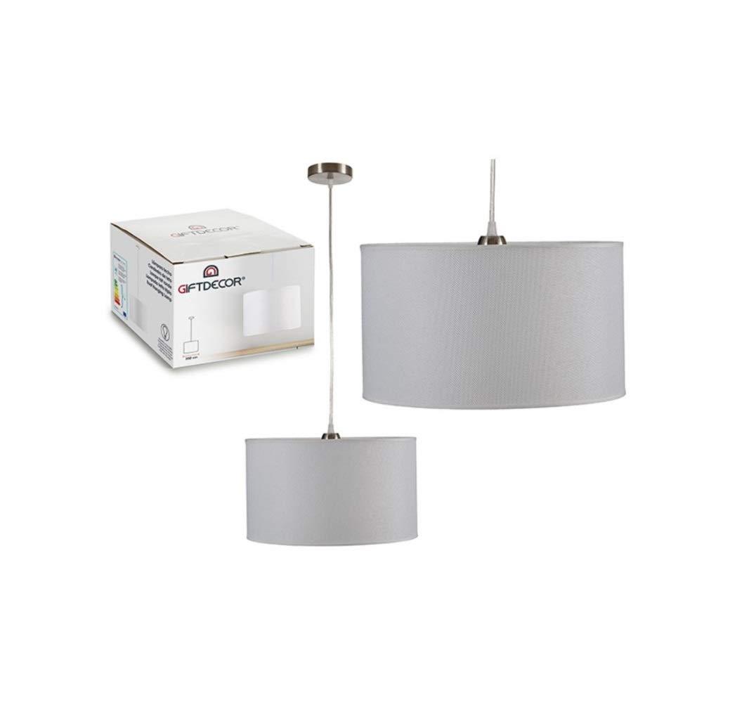 takestop/® LAMPADARIO Lampada in Tessuto 35x35cm Sospensione SOFFITTO con PORTALAMPADA CASA Soggiorno Salone Design Moderno Nero