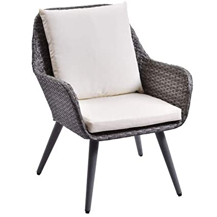 Outstanding Amazon Com Hm Home Outdoor Wicker Dining Chair Pe Rattan Pabps2019 Chair Design Images Pabps2019Com