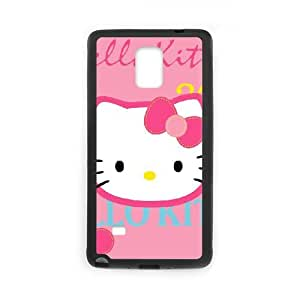 Samsung Galaxy Note 4 Case Black Hello Kitty Cell Phone Case Cover E2D6SO