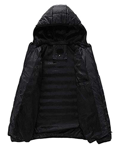 Hooded Men Solid Jacket Coat Jacket Men's Brands Slim Jacket Fashion Outdoor Down Coat Quilted Jackets Warm Ultralight BOLAWOO Fit Schwarz Down Long Sleeve Color Winter w1zqZ4n