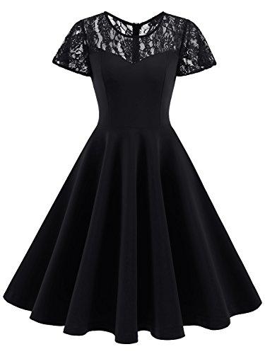 1950s black lace dress - 7