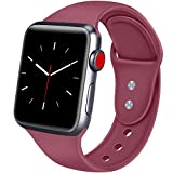 ATUP Sport Band Compatible with Apple Watch 38mm 40mm 42mm 44mm Women Men, Soft Silicone Replacement Bands for iWatch Apple Watch Series 4, Series 3, Series 2, Series 1