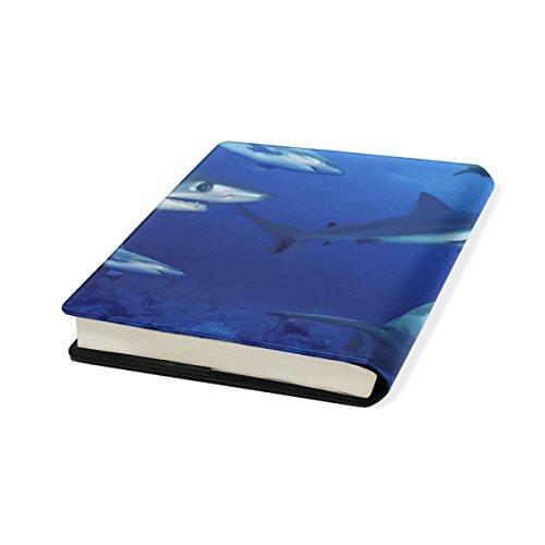 Relié Cuir Couverture Sharks Livre Multicolore Libre Protector Manuels Coosun Livre De Stretchable Pu Jusqu'à Sox La 9 X Pouces École 11 Fits Plupart Adhésif 11 Des qPdwIdR